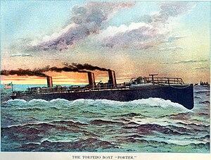 USS Porter (TB-6) - Illustration of Porter at sea, 1898.