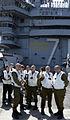 USS Theodore Roosevelt IDF Officers visit Aircraft Carrier in Mediterranean (17067007425).jpg