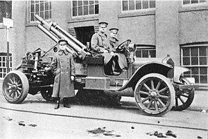 75 mm Gun M1916 - US 75mm Gun M1916 AA on White 2.5-ton Truck Mount