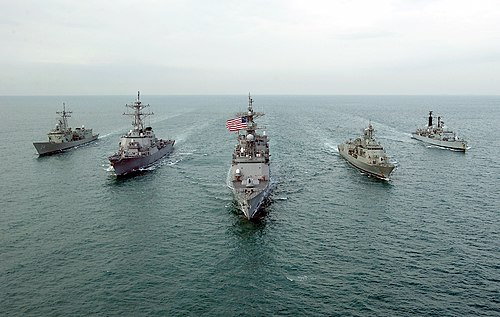 U S Navy Royal Navy And Royal Australian Navy Destroyers On Joint Operations In The