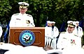 US Navy 020830-N-2383B-594 Admiral Vern Clark, Chief of Naval Operations, addresses attendees during a retirement ceremony.jpg