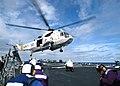 US Navy 021025-N-8629M-001 SH-3 lands aboard USS Milius.jpg