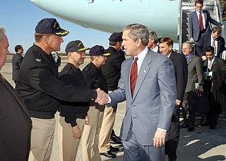 Naval Station Mayport - Image: US Navy 030213 N 0874H 001 President Bush arrives at Naval Station Mayport, Florida