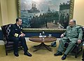 US Navy 060420-N-2383B-010 Chief of Naval Operations (CNO) Adm. Mike Mullen meets with Algerian Chief of Staff Gen. Major Ahmed Gaid-Salah.jpg