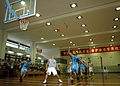 US Navy 060612-N-5549O-065 Teams from the Nimitz-class aircraft carrier USS Ronald Reagan (CVN 76) and the Peoples Liberation Army, Hong Kong Garrison take part in a basketball game.jpg
