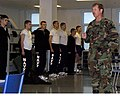 US Navy 070427-N-0606B-002 Commodore, Naval Special Warfare Group Four, Capt. Evin Thompson, talks with recruits of Division 149, the first all-SEAL candidate division to train together in boot camp.jpg