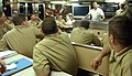 US Navy 070530-N-1595E-001 Commander, U.S. Naval Submarine Force Command Master Chief (FORCM) Dean Irwin addresses chief petty officers and junior officers in the crew's galley aboard fast-attack submarine USS Springfield (SSN.jpg