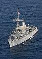 US Navy 090905-N-3165S-576 Mine countermeasure ship USS Gladiator (MCM 11) displays the U.S. flag as it conducts underway operations.jpg