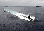 US Navy 091117-N-1644H-162 The Seawolf-class attack submarine USS Connecticut (SSN 22) is underway in the Pacific Ocean.jpg