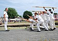 US Navy 110806-N-AU127-287 Sailors assigned to USS Constitution perform 17th century boarding pike drills during the Salem Maritime Festival.jpg