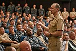 US Navy 120119-N-WP746-011 Chief of Naval Operations (CNO) Adm. Jonathan Greenert conducts an all-hands call to more than 500 Hawaii-based Sailors.jpg
