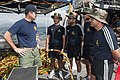 US Navy 120213-N-WX059-117 Cmdr. Tom Murphey, commanding officer of Mobile Diving and Salvage Unit (MDSU) 1, talks with Indian navy divers aboard t.jpg