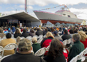 Marinette Marine - USS Detroit christened