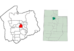 Location of Murray, Utah