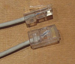 UTP ethernet cable 8pin modular jack endings