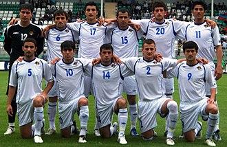 Araz Abdullayev - Araz Abdullayev (number 17) with the Azerbaijan U-21 team.