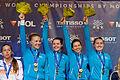 Ukraine podium 2013 Fencing WCH SFS-EQ t215007.jpg