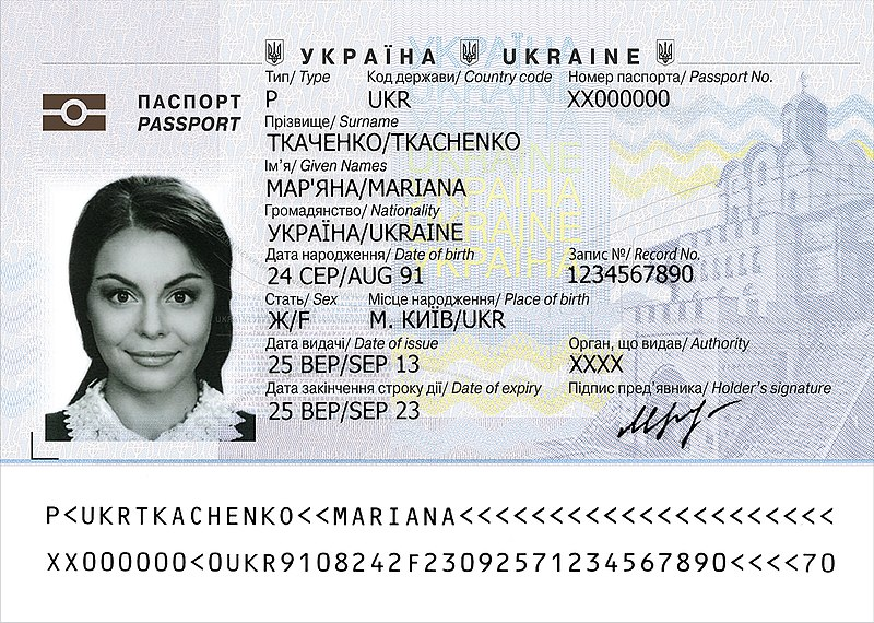 File Ukrainian Biometric Passport Data Page Jpg