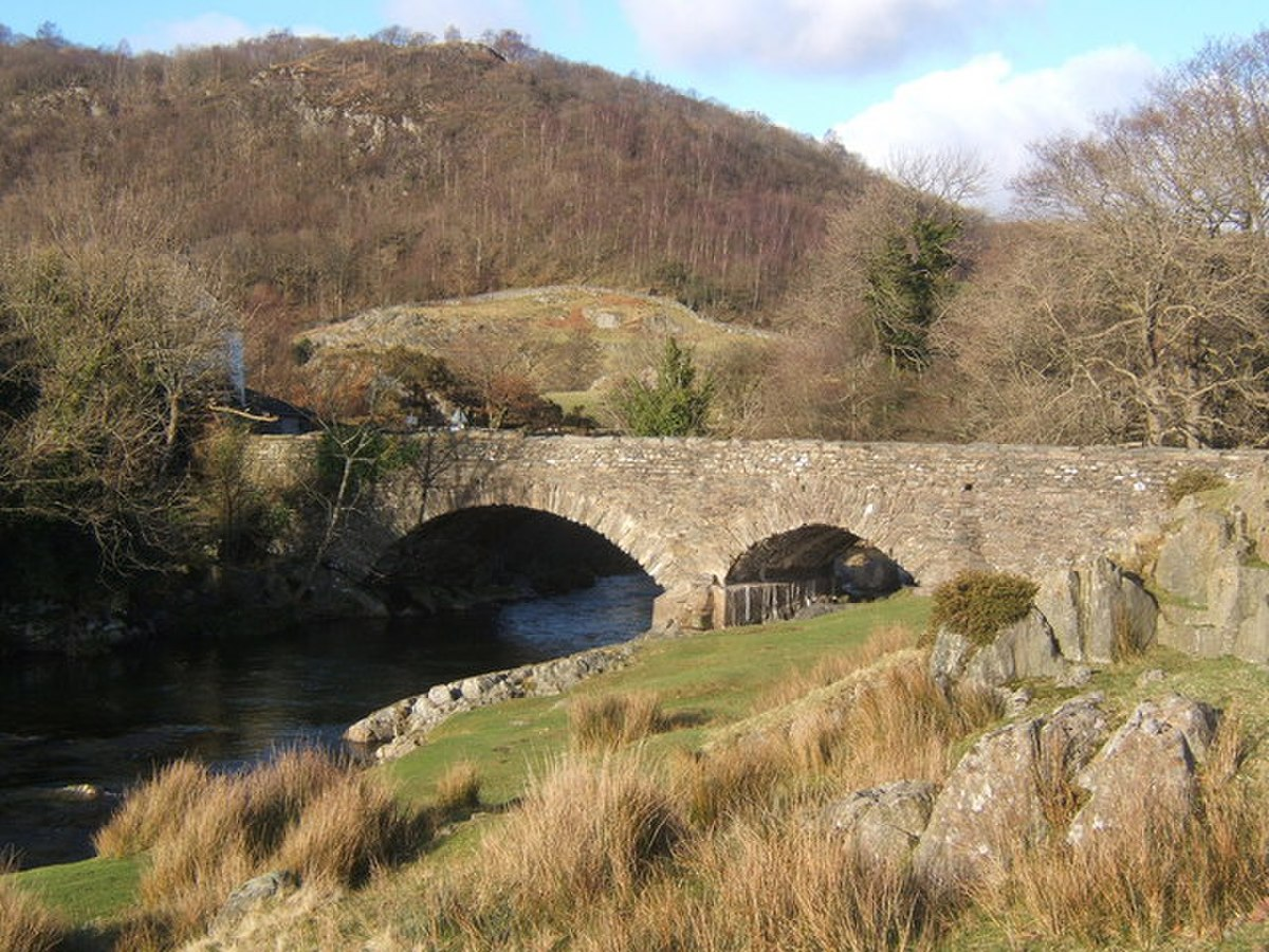 Ulpha Bridge over the Duddon, a popular stopping place - geograph.org.uk - 687091.jpg