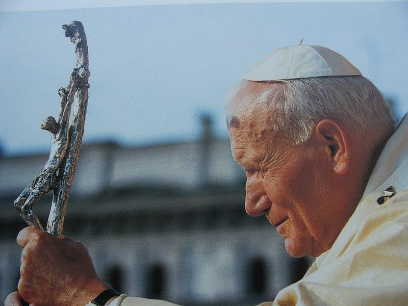 File:Una foto di Giovanni Paolo II scattata all'interno dell'Arcivescovado di Cracovia - panoramio.jpg