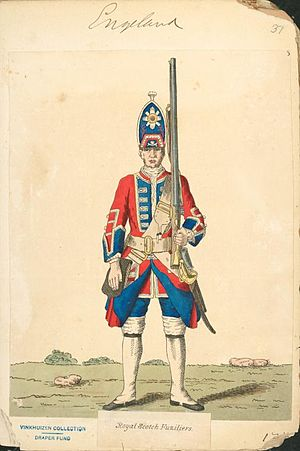 Battle of Dettingen - Royal Scots Fusilier