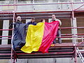 United Belgium Brussels demonstration 20071118 DMisson 00039b Belliard street Belgian flag.jpg