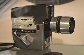 8 mm film - Revere Model 144 8 mm film camera from 1955 at Universum museum in Mexico City