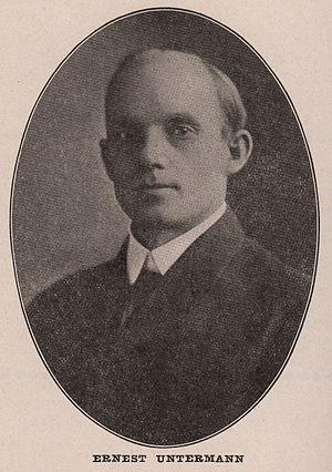 Ernest Untermann - Ernest Untermann in 1909.