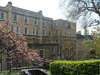 Manor Hall, Bristol - Entrance to Manor Hall viewed from Tottenham Place