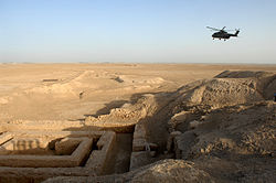 Uruk Archaealogical site at Warka, Iraq MOD 45156521.jpg