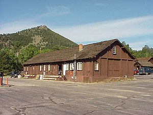 Rocky Mountain National Park Utility Area Historic District - A warehouse in the district