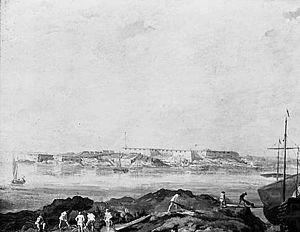 "Utsikt över Sveaborg (""View over Sveaborg""), painting by Augustin Ehrensvärd"