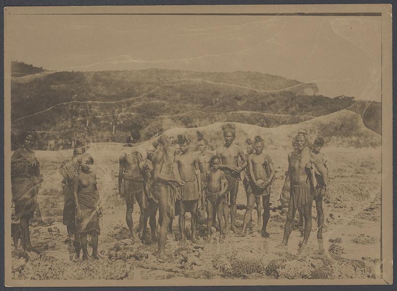 File:UvA-BC 300.412 - Siboga - inheemse bewoners van Timor op een rif aan de oostkant van het eiland.jpg