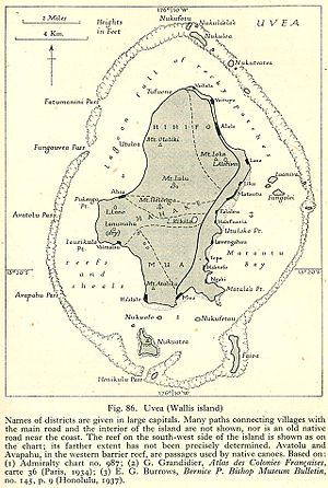 Uvea (Wallis and Futuna) - Map of Wallis island