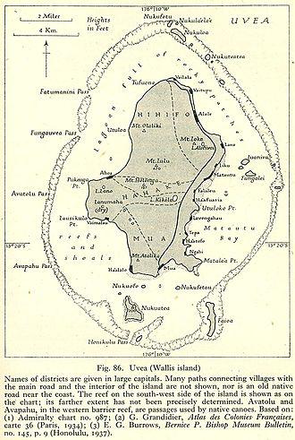 Uvea (Wallis and Futuna) - Map of Wallis island