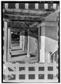 VIEW THROUGH GROUND-FLOOR GALLERY, LOOKING NORTH - Custom House, Custom House Street, Frederiksted, St. Croix, VI HABS VI,1-FRED,2-6.tif