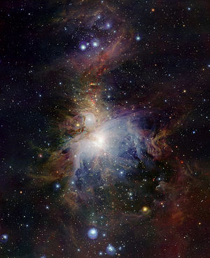 VISTA (telescope) - VISTA exposes high-speed antics of young stars in the Orion Nebula