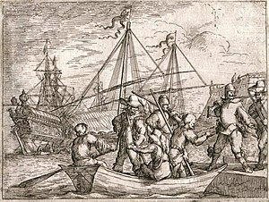 Naval Battle of Tarragona (July 1641) - Vessels, galleys and soldiers on board, circa 1634-1637. The Spanish fleet was composed exclusively of galleys, apart from a few brigantines (small rowing vessels).