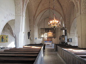 Vaksala Church - Interior view towards the altar