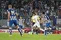 Valais Cup 2013 - OM-FC Porto 13-07-2013 - Accéleration de Dimitri Payet.jpg