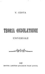 Vasile Conta: Teoria ondulațiunii universale