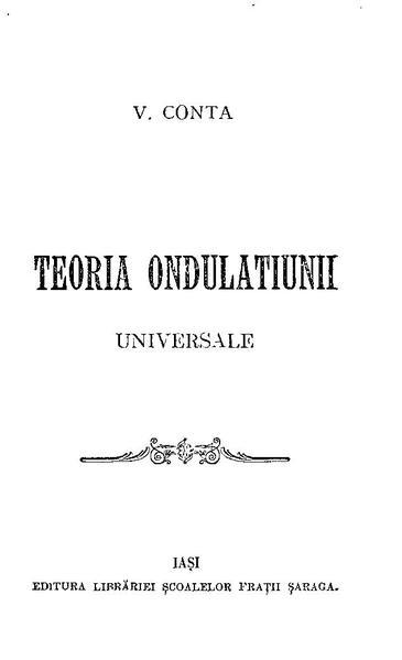 File:Vasile Conta - Teoria ondulațiunii universale.pdf