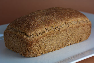 Sprouted bread - Image: Vegan Flourless Sprouted Wheat Bread (4106860877)