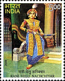 Velu Nachchiyar 2008 stamp of India.jpg