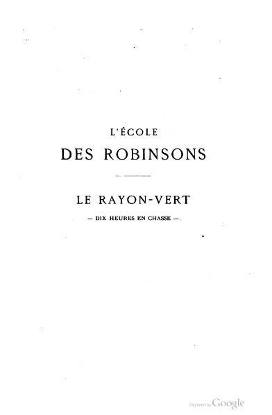 File:Verne - L'École des Robinsons - Le Rayon vert.djvu