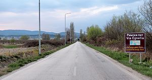 Via Egnatia - Via Egnatia by Resen in Macedonia, now part of A-3 motorway