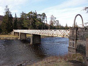 Victoria Bridge, Mar Lodge Estate - Image: Victoria Bridge, Braemar 04
