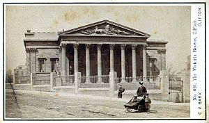 Victoria Rooms, Bristol - Postcard of the Victoria Rooms from c.1868
