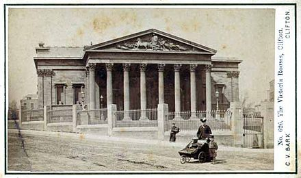 Postcard of the Victoria Rooms from c.1868 Victoria Rooms Bristol c1868.jpg