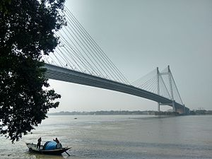 Prinsep Ghat - View of the River Hooghly and Vidyasagar Setu from Prinsep ghat